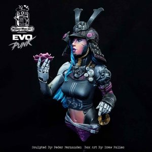 Kohana Cyborg Samurai Miniature Bust