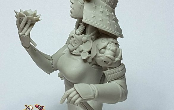 Ko-hana – Fantasy Samurai – High Quality Miniature – Left Facing