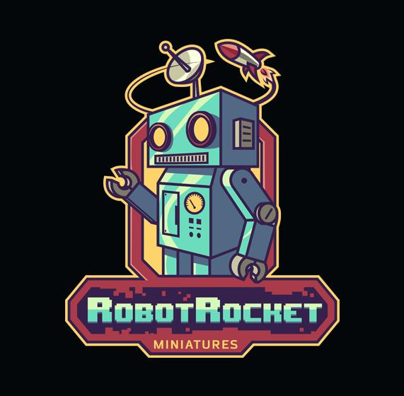 Robot Rocket Miniatures Mascot