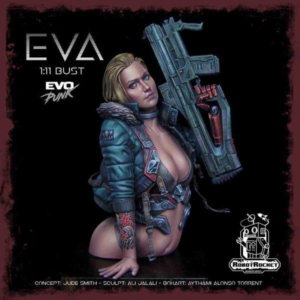 Eva Miniature Bust – Robot Rocket Miniatures