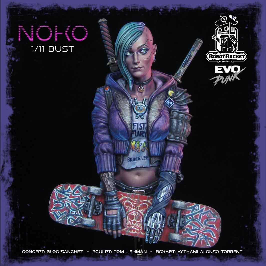 Nunudes Co Uk Fi: Noko, Skateboard Evo Punk Samurai Miniature