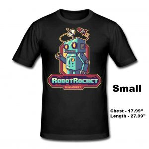 Tshirt Small - Robot Rocket Miniatures Merchandise