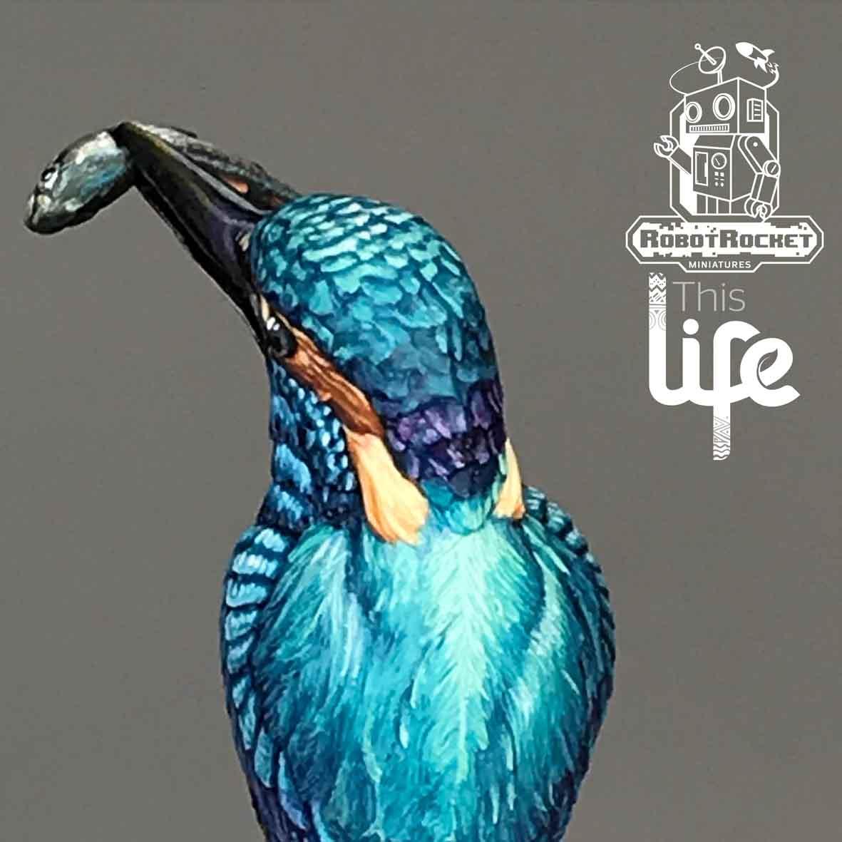 Humming Bird Painted Miniature